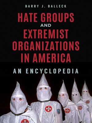 cover image of Hate Groups and Extremist Organizations in America