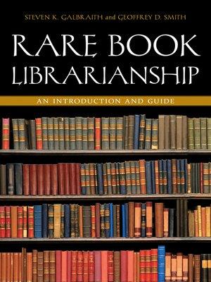 cover image of Rare Book Librarianship
