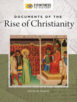 cover image of Documents of the Rise of Christianity