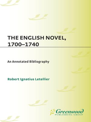 cover image of The English Novel, 1700-1740