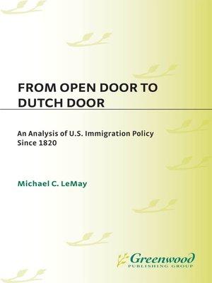 cover image of From Open Door to Dutch Door