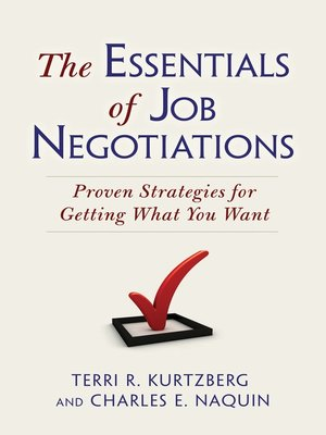 cover image of The Essentials of Job Negotiations