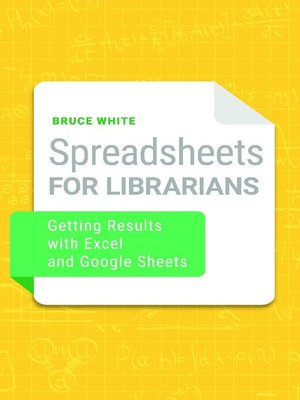 cover image of Spreadsheets for Librarians