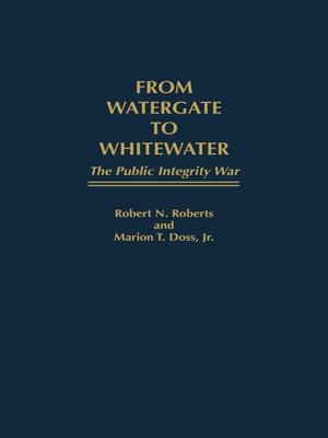 cover image of From Watergate to Whitewater