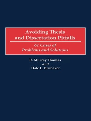 cover image of Avoiding Thesis and Dissertation Pitfalls