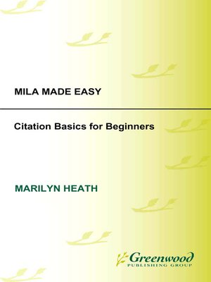cover image of MLA Made Easy