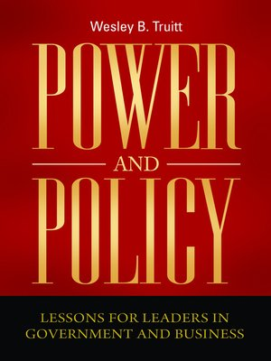 cover image of Power and Policy