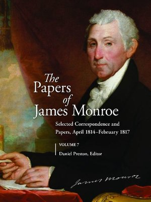 cover image of The Papers of James Monroe, Volume 7