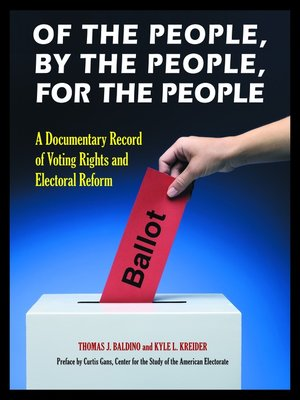 cover image of Of the People, by the People, for the People