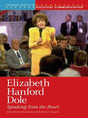 cover image of Elizabeth Hanford Dole