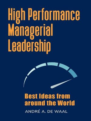 cover image of High Performance Managerial Leadership