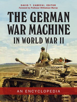 cover image of The German War Machine in World War II