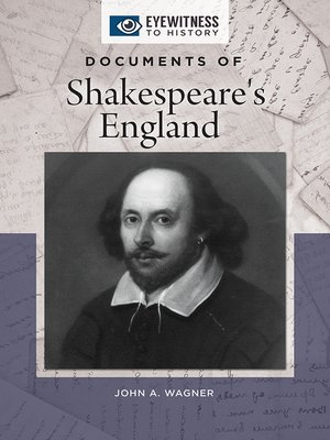 cover image of Documents of Shakespeare's England