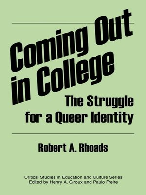 cover image of Coming out in College