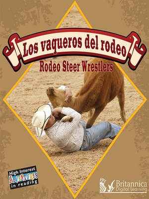 cover image of Los vaqueros del rodeo (Rodeo Steer Wrestlers)