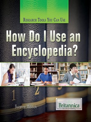 cover image of How Do I Use an Encyclopedia?