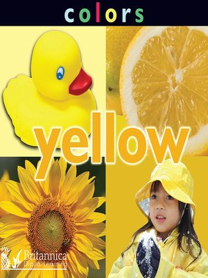 cover image of Colors: Yellow