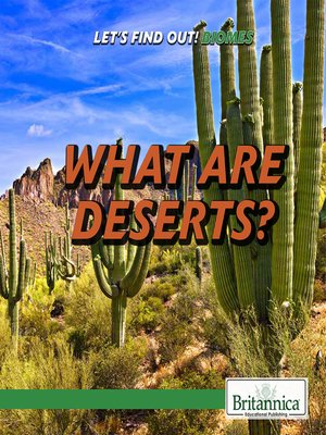 cover image of What are Deserts?