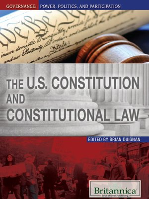 cover image of The U. S. Constitution and Constitutional Law