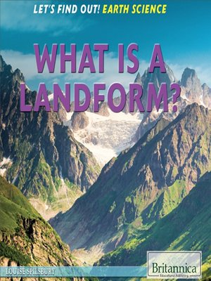 cover image of What Is a Landform?
