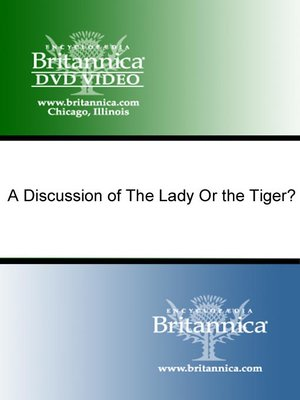 cover image of A Discussion of The Lady Or the Tiger?