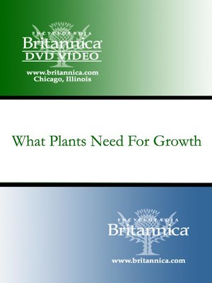 cover image of What Plants Need For Growth