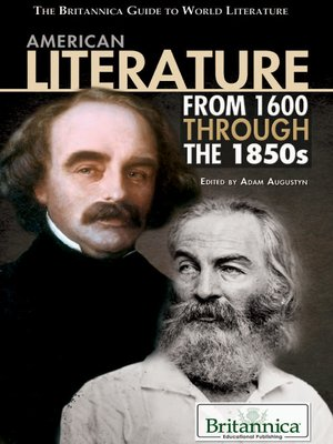 cover image of American Literature from 1600 Through the 1850s