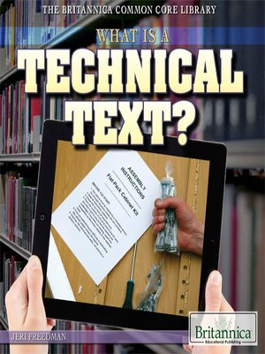 cover image of What Is a Technical Text?