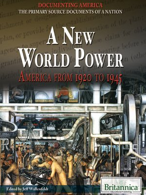 cover image of A New World Power