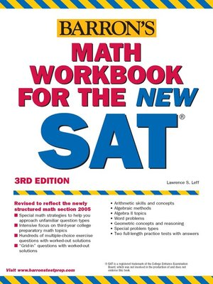 Barrons math workbook for the sat by lawrence s leff overdrive barrons math workbook for the sat fandeluxe Images