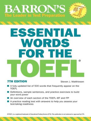cover image of Essential Words for the TOEFL