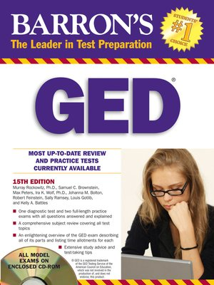 cover image of GED, 15th Edition