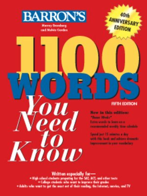 Barrons educational series incpublisher overdrive rakuten 1100 words you need to know fandeluxe Choice Image
