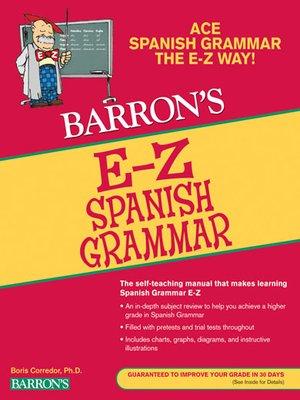 cover image of E-Z Spanish Grammar