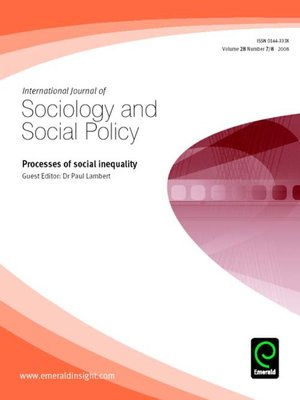 cover image of International Journal of Sociology and Social Policy, Volume 28, Issue 7 & 8