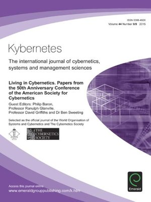cover image of Kybernetes, Volume 44, Number 8 & 9