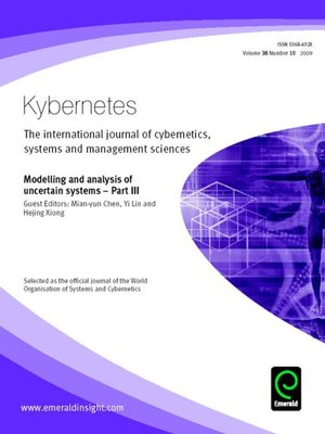 cover image of Kybernetes, Volume 38, Issue 10