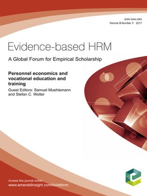 cover image of Evidence-based HRM: a Global Forum for Empirical Scholarship, Volume 5, Number 1