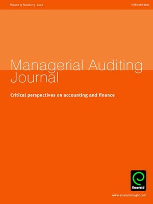 cover image of Managerial Auditing Journal, Volume 17, Issue 3
