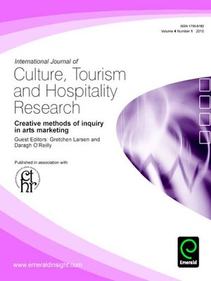 cover image of International Journal of Culture, Tourism and Hospitality Research, Volume 4, Issue 1