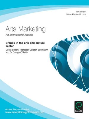 cover image of Arts Marketing: An International Journal, Volume 4, Issue 1 & 2