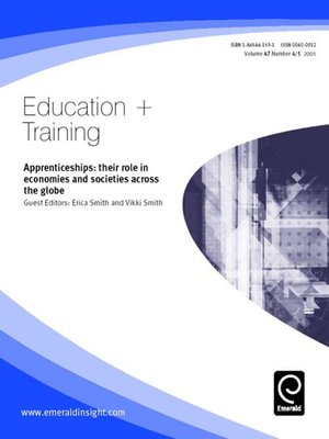 cover image of Education + Training, Volume 47, Issue 4 & 5