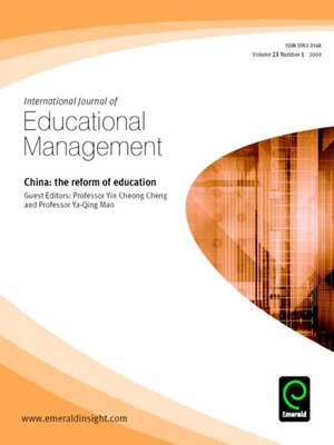 cover image of International journal of Educational management, Volume 23, Issue 1