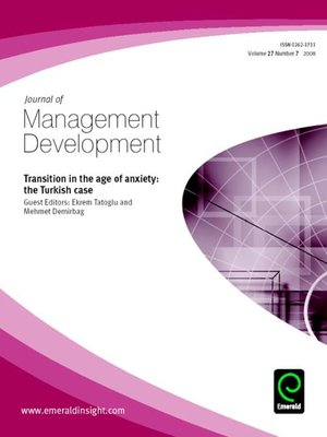 cover image of Journal of Management Development, Volume 27, Issue 7