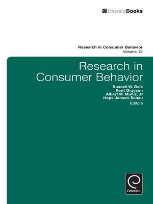 cover image of Research in Consumer Behavior, Volume 13