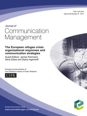 cover image of Journal of Communication Management, Volume 21, Number 4
