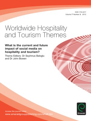 cover image of Worldwide Hospitality and Tourism Themes, Volume 7, Issue 3