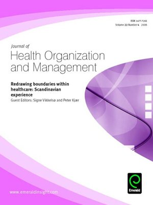 cover image of Journal of Health Organization and Management, Volume 22, Issue 4