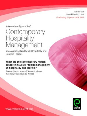 cover image of International Journal of Contemporary Hospitality Management, Volume 20, Issue 7