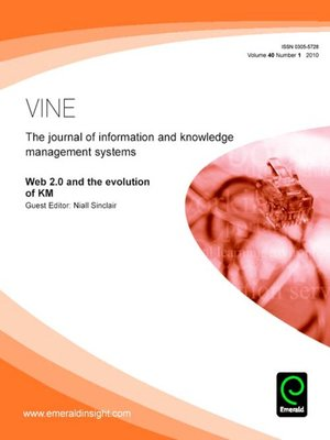 cover image of VINE, Volume 40, Issue 1